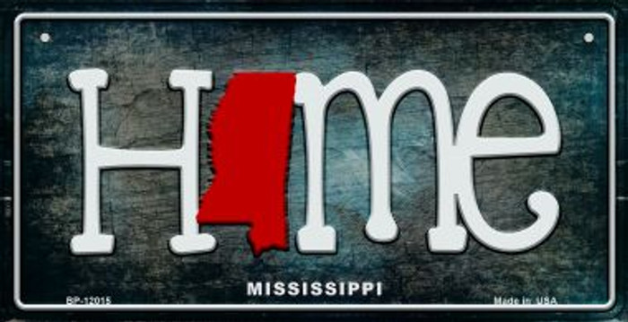 Mississippi Home State Outline Novelty Bicycle Plate BP-12015