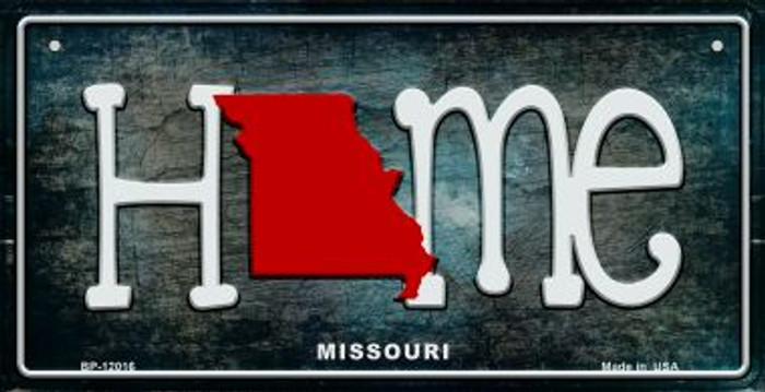 Missouri Home State Outline Novelty Bicycle Plate BP-12016