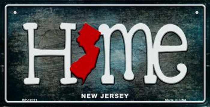 New Jersey Home State Outline Novelty Bicycle Plate BP-12021
