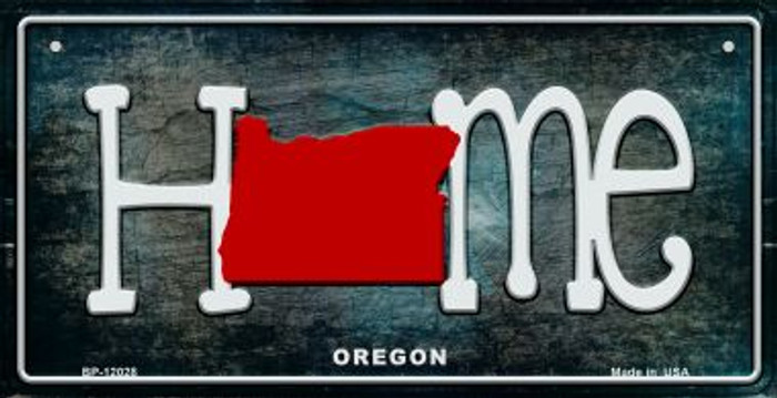 Oregon Home State Outline Novelty Bicycle Plate BP-12028