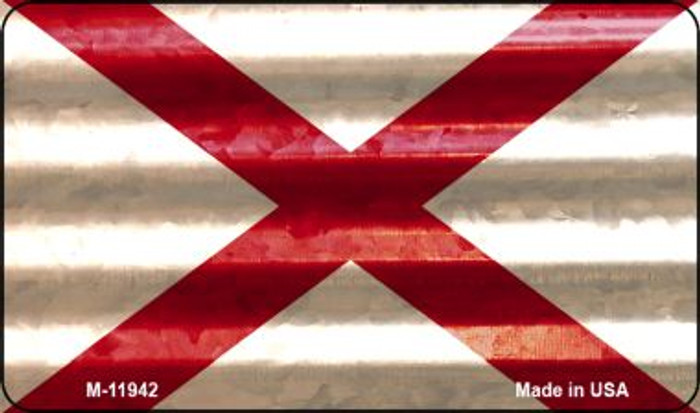 Alabama Corrugated Flag Novelty Magnet M-11942