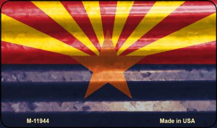 Arizona Corrugated Flag Novelty Magnet M-11944