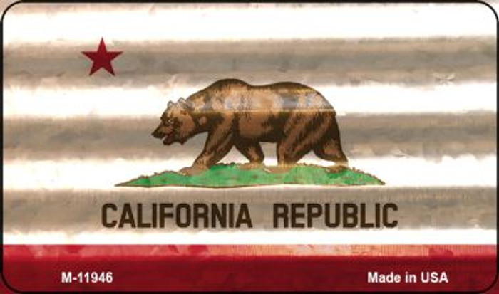 California Corrugated Flag Novelty Magnet M-11946
