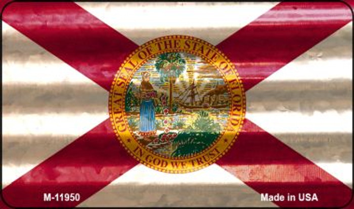 Florida Corrugated Flag Novelty Magnet M-11950