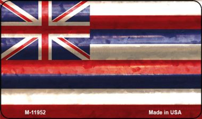 Hawaii Corrugated Flag Novelty Magnet M-11952
