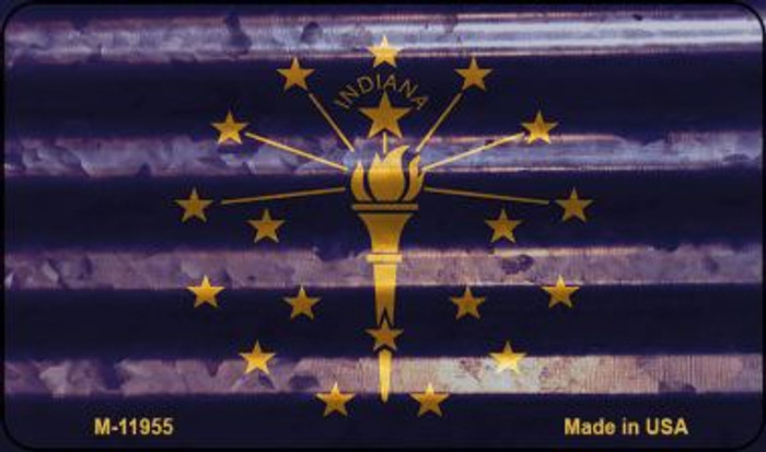 Indiana Corrugated Flag Novelty Magnet M-11955