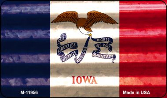 Iowa Corrugated Flag Novelty Magnet M-11956