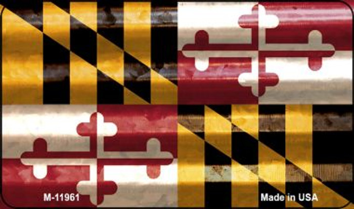 Maryland Corrugated Flag Novelty Magnet M-11961