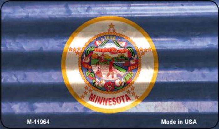 Minnesota Corrugated Flag Novelty Magnet M-11964