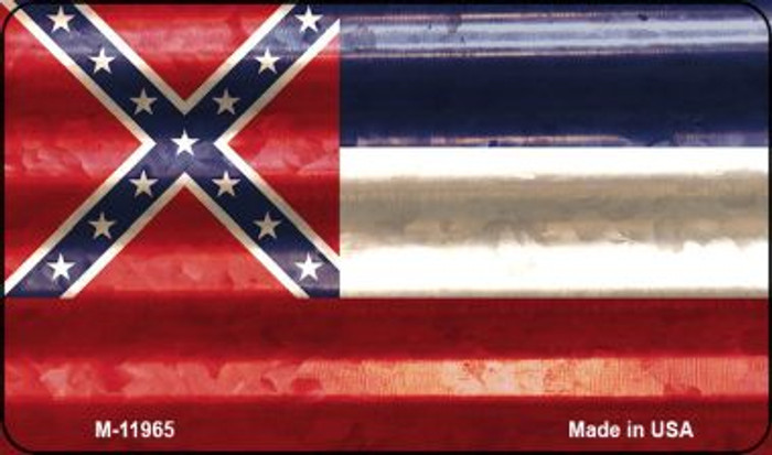 Mississippi Corrugated Flag Novelty Magnet M-11965