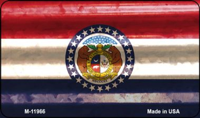 Missouri Corrugated Flag Novelty Magnet M-11966