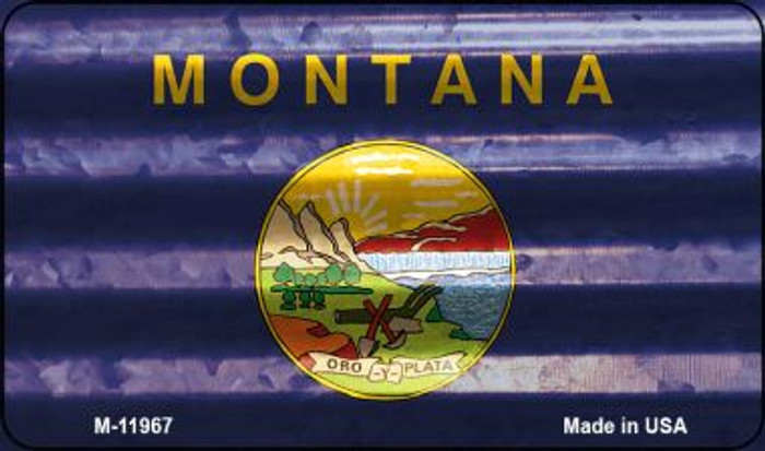 Montana Corrugated Flag Novelty Magnet M-11967