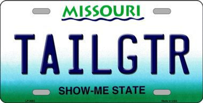 Tailgtr Missouri Novelty Metal License Plate