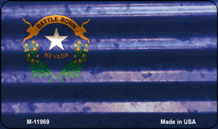 Nevada Corrugated Flag Novelty Magnet M-11969