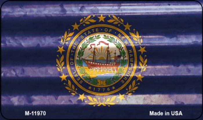New Hampshire Corrugated Flag Novelty Magnet M-11970