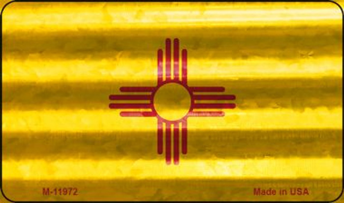 New Mexico Corrugated Flag Novelty Magnet M-11972
