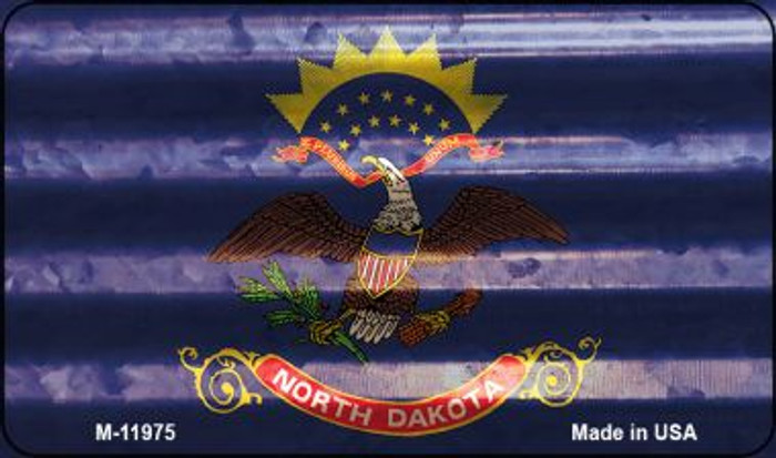 North Dakota Corrugated Flag Novelty Magnet M-11975