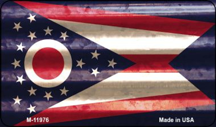 Ohio Corrugated Flag Novelty Magnet M-11976