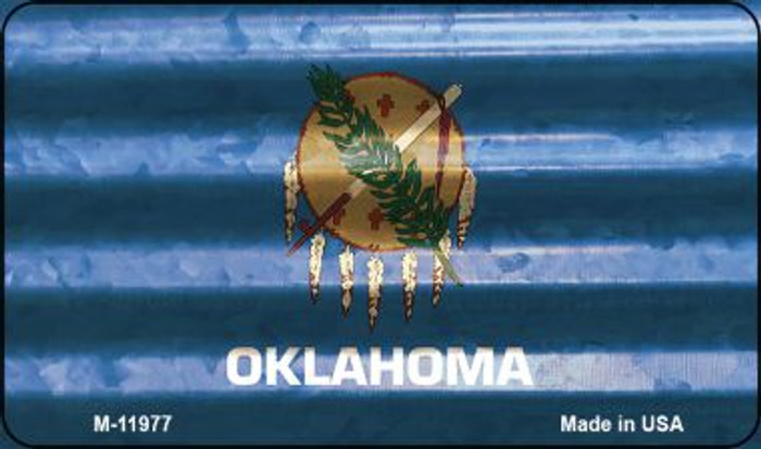 Oklahoma Corrugated Flag Novelty Magnet M-11977