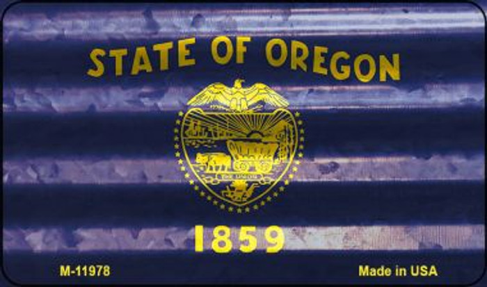 Oregon Corrugated Flag Novelty Magnet M-11978