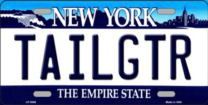 Tailgtr New York Novelty Metal License Plate
