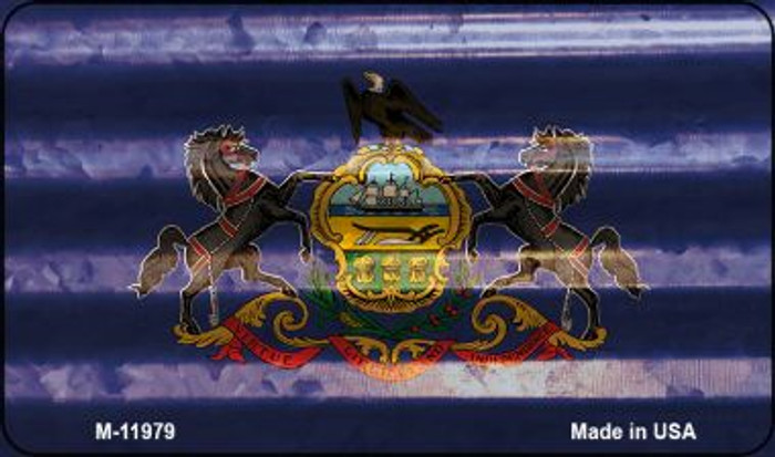 Pennsylvania Corrugated Flag Novelty Magnet M-11979