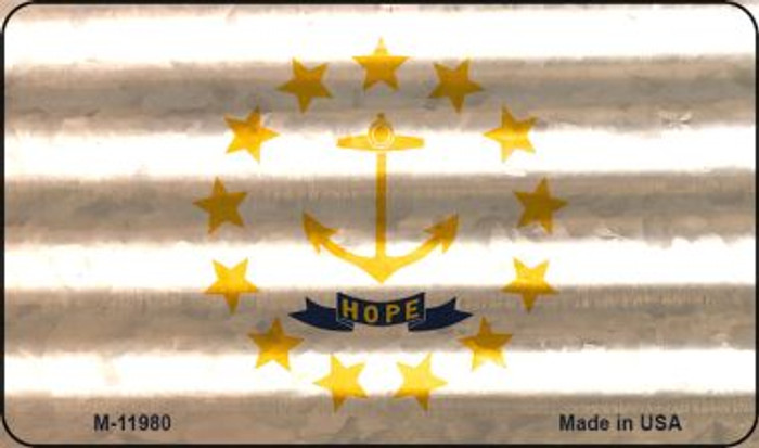 Rhode Island Corrugated Flag Novelty Magnet M-11980