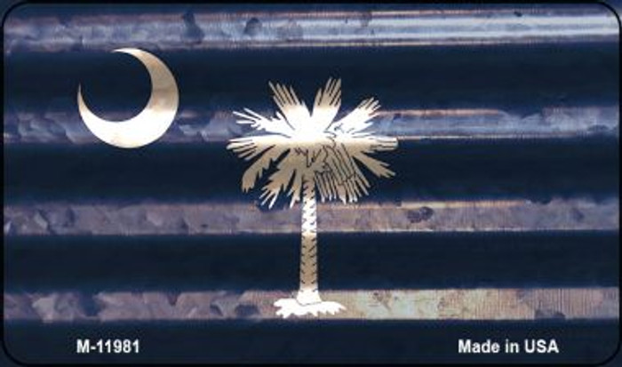 South Carolina Corrugated Flag Novelty Magnet M-11981