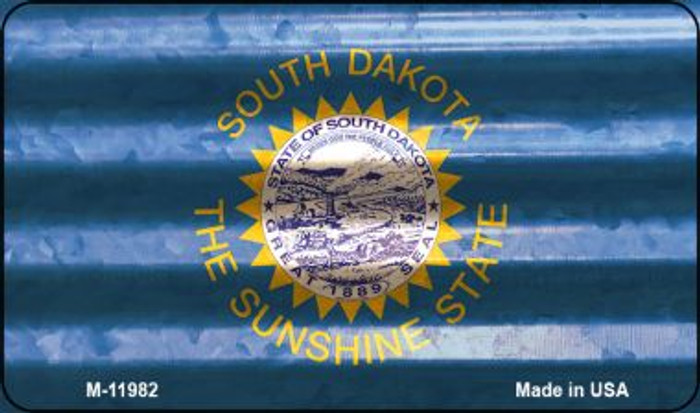 South Dakota Corrugated Flag Novelty Magnet M-11982