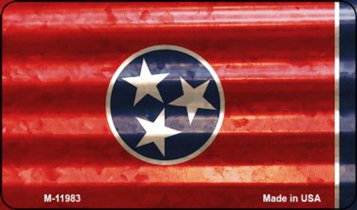 Tennessee Corrugated Flag Novelty Magnet M-11983