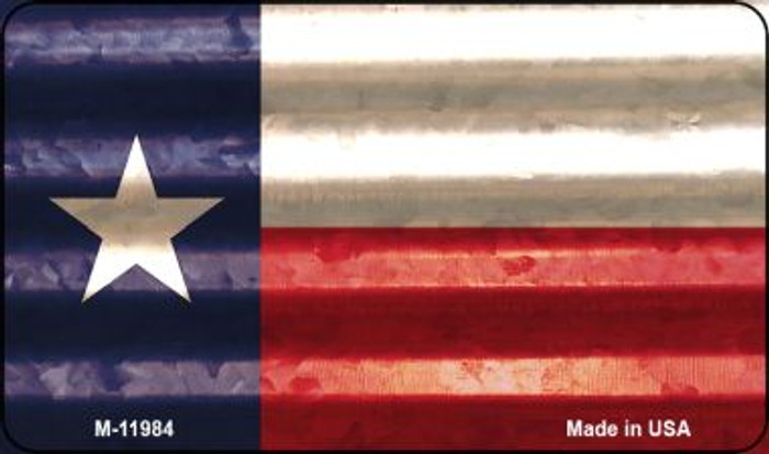 Texas Corrugated Flag Novelty Magnet M-11984