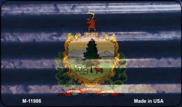 Vermont Corrugated Flag Novelty Magnet M-11986