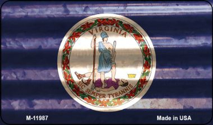 Virginia Corrugated Flag Novelty Magnet M-11987