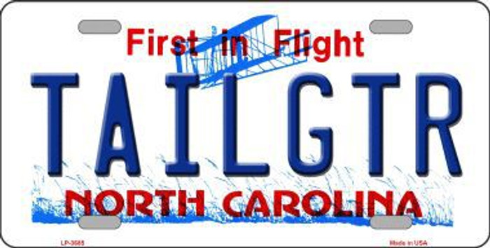 Tailgtr North Carolina Novelty Metal License Plate