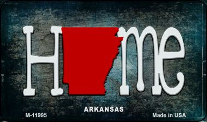 Arkansas Home State Outline Novelty Magnet M-11995