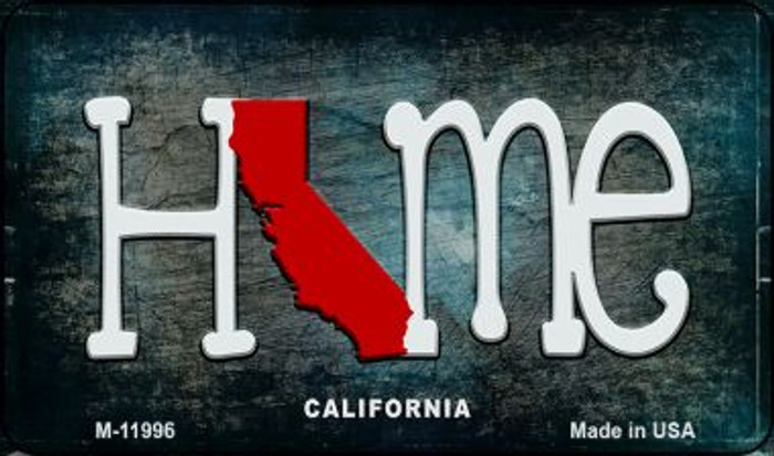 California Home State Outline Novelty Magnet M-11996