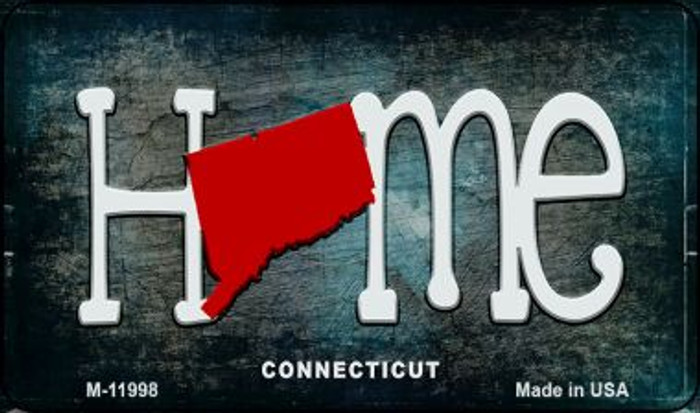 Connecticut Home State Outline Novelty Magnet M-11998