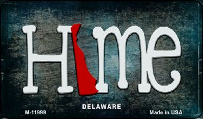 Delaware Home State Outline Novelty Magnet M-11999