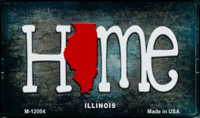 Illinois Home State Outline Novelty Magnet M-12004