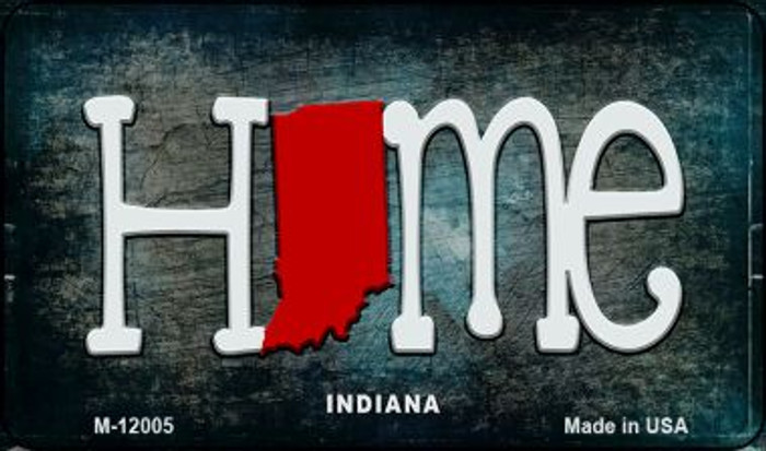 Indiana Home State Outline Novelty Magnet M-12005