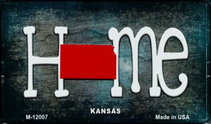Kansas Home State Outline Novelty Magnet M-12007