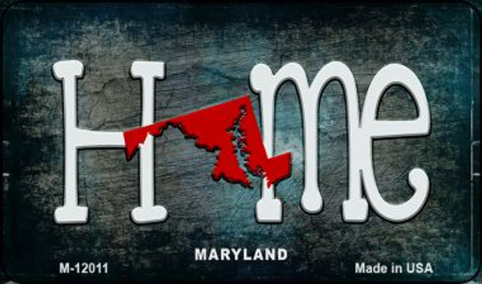 Maryland Home State Outline Novelty Magnet M-12011