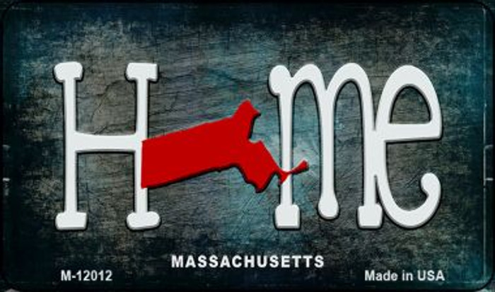 Massachusetts Home State Outline Novelty Magnet M-12012
