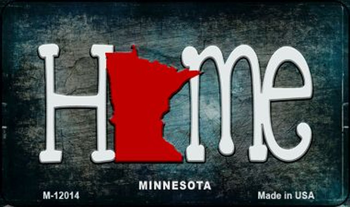 Minnesota Home State Outline Novelty Magnet M-12014