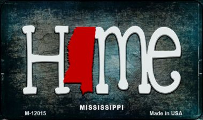 Mississippi Home State Outline Novelty Magnet M-12015