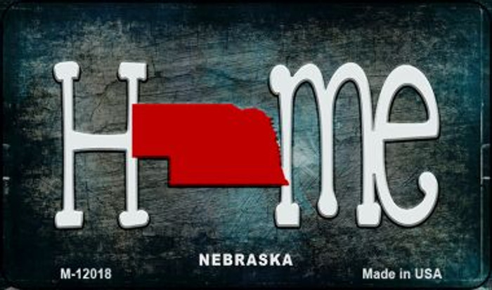 Nebraska Home State Outline Novelty Magnet M-12018