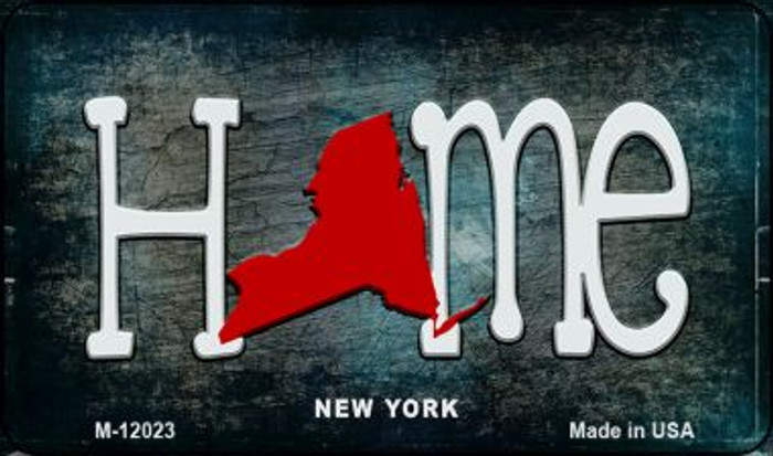 New York Home State Outline Novelty Magnet M-12023