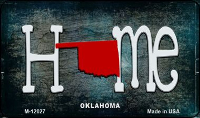 Oklahoma Home State Outline Novelty Magnet M-12027
