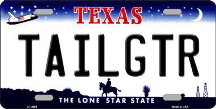Tailgtr Texas Novelty Metal License Plate