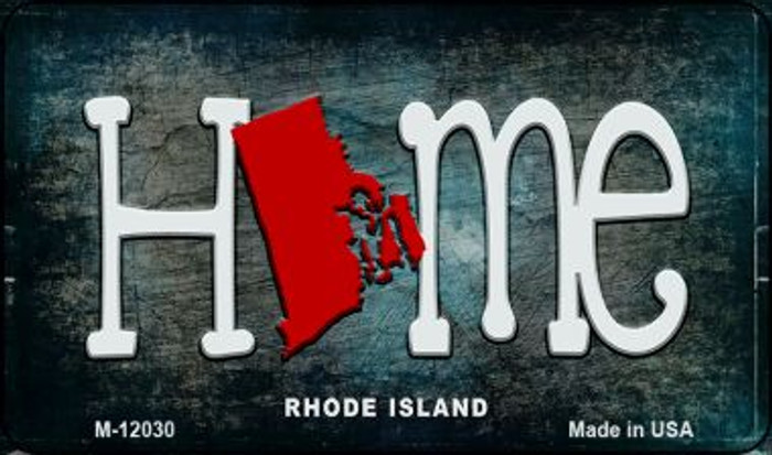 Rhode Island Home State Outline Novelty Magnet M-12030